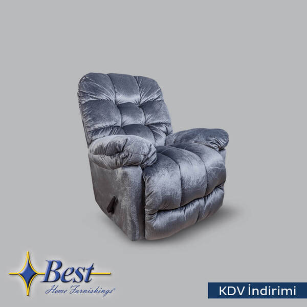 TV Koltuğu - Recliner - Brosmer Koltuk Mavi