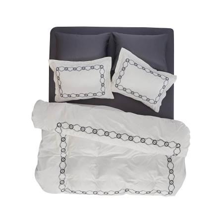 Carbond Nevresim Seti Beyaz 200x220 - Thumbnail