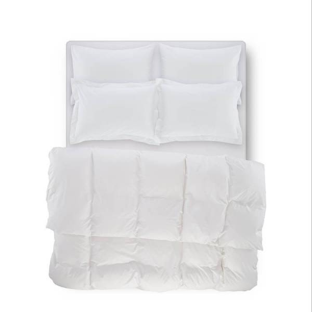 Catrine Percale Easy Care Nevresim Seti Beyaz 200x220 - Thumbnail