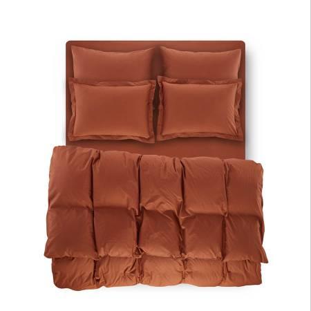 PENELOPE BEDROOM - Catrine Percale Easy Care Nevresim Seti Kiremit 160x220