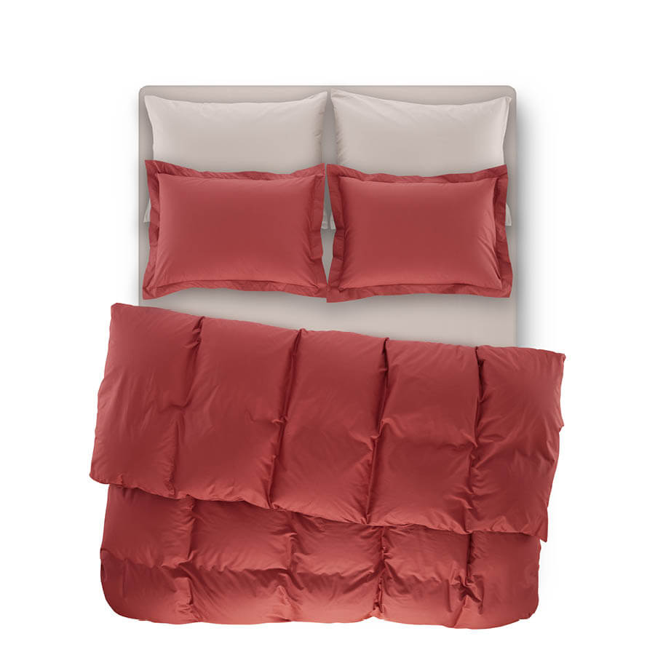 Catrine Percale Easy Care Nevresim Seti Mercan 220x240