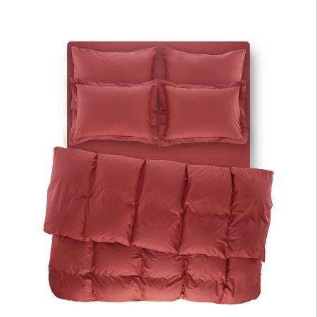 PENELOPE BEDROOM - Catrine Percale Easy Care Nevresim Seti Mercan 240x260