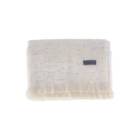 Greta Throw Battaniye 140x190 Beyaz - Thumbnail