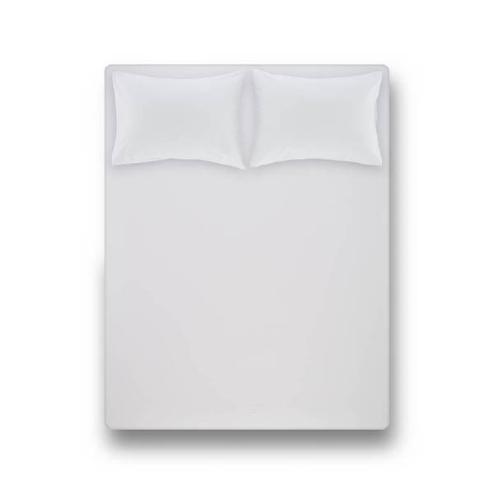LAURA PERCALE - Laura Percale Easy Care Lastikli Çarşaf Seti Beyaz 100X200+35