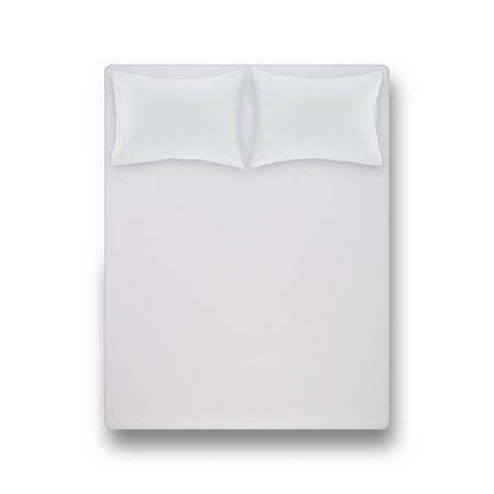 Laura Percale Easy Care Lastikli Çarşaf Seti Beyaz 200X200+35 - Thumbnail