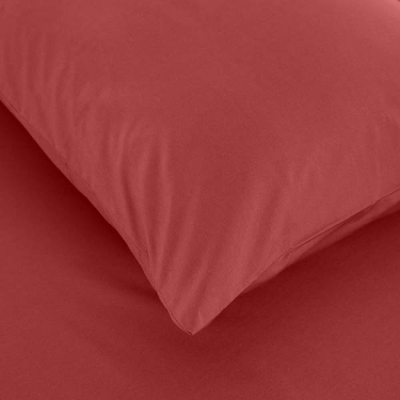 Laura Percale Easy Care Lastikli Çarşaf Seti Mercan 120X200+35 - Thumbnail