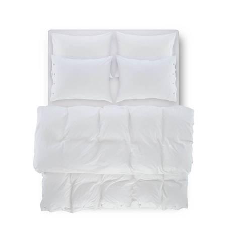 SERENA PERCALE - Serena Percale Easy Care Nevresim Seti Beyaz 200x220
