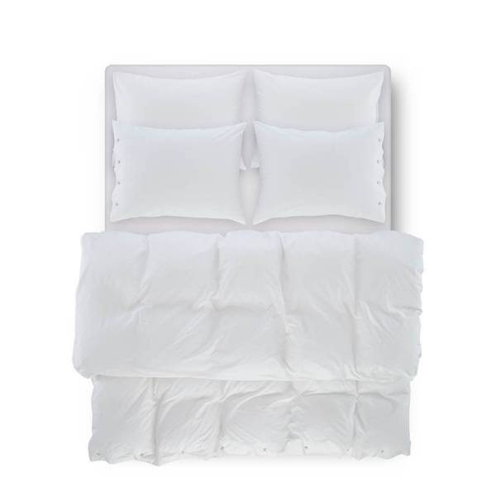 SERENA PERCALE - Serena Percale Easy Care Nevresim Seti Beyaz 220x240