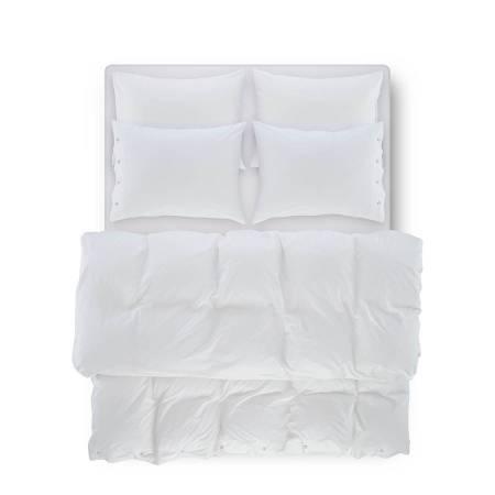 SERENA PERCALE - Serena Percale Easy Care Nevresim Seti Beyaz 240x260